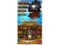 Vertical Slot  Queen of Pirate Game board
