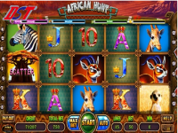 African Hunt double monitor slot game